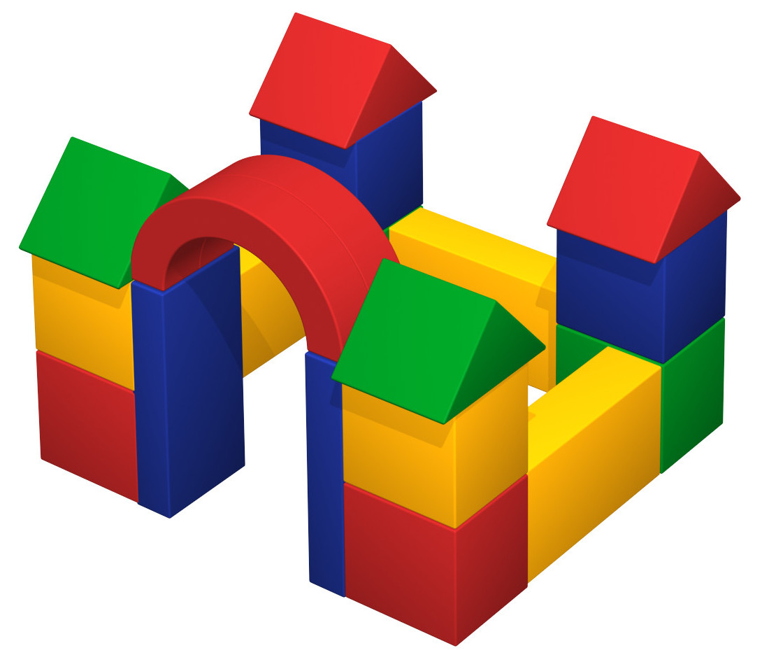Castle - made of soft colourful blocks - for our little ones