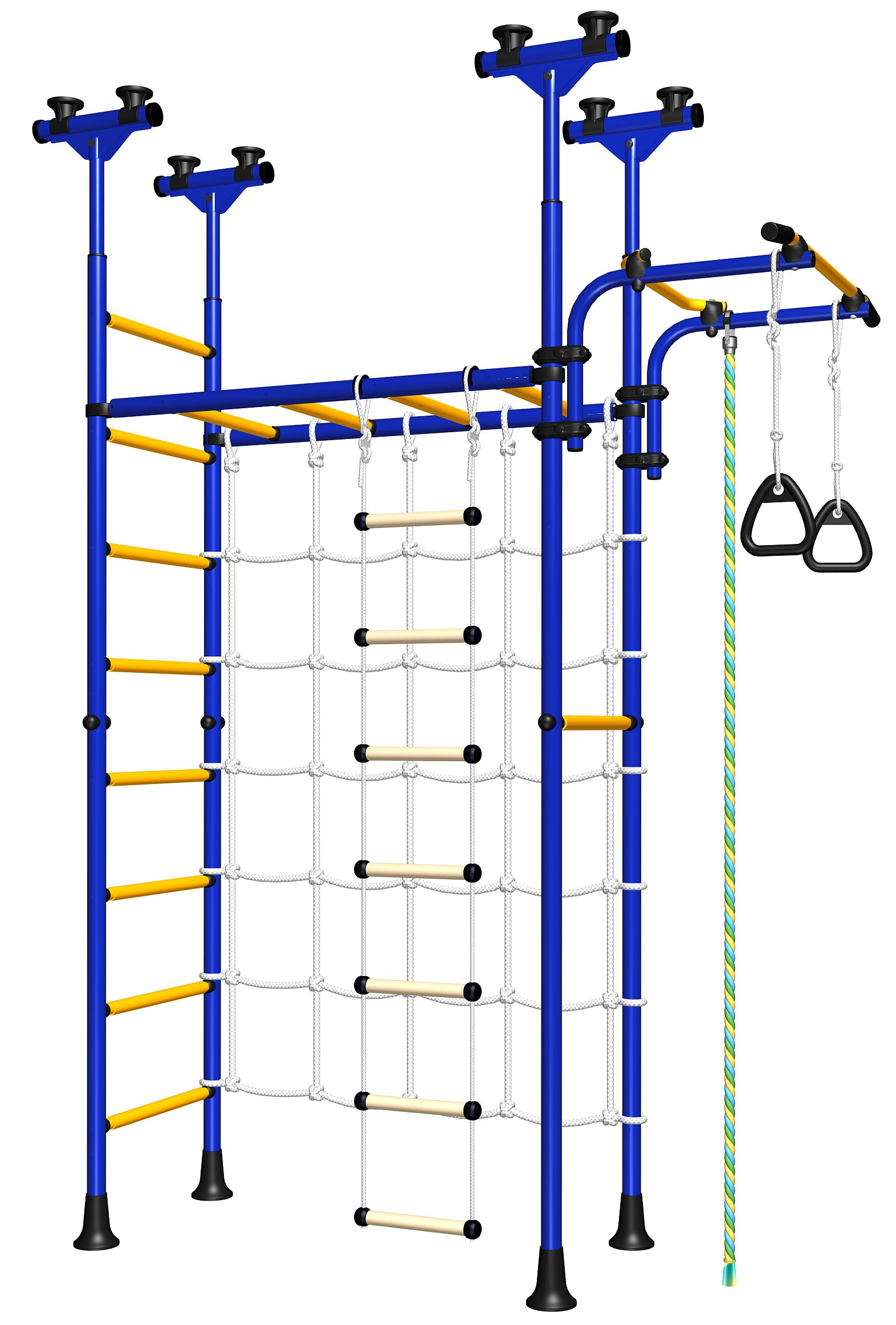 Spider Wall - a new generation of the Home Gym forKids with the Monkeybars and the Net in one set